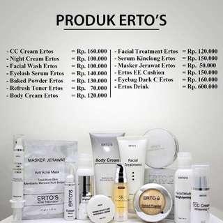 Erto's Skincare Asli bukan Palsu