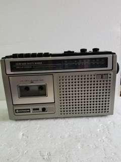 Hitachi 机(radio 0K,cassette 唔0k