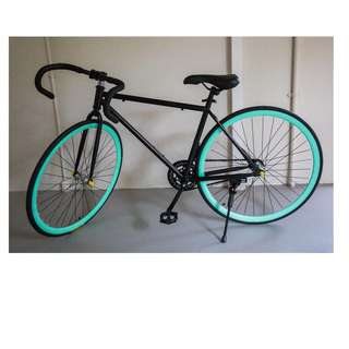 Black/Turquoise Drop Bar Fixie [Brand New, Ready Stocks]