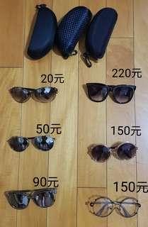 墨鏡 太陽眼鏡 大框眼鏡 大框墨鏡 瘦小臉眼鏡 眼鏡