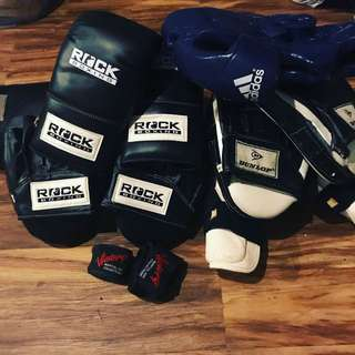 Set of boxing, mma gloves