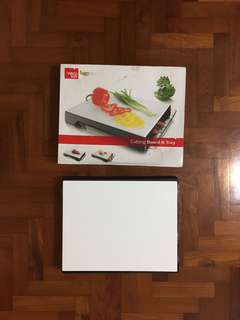 Vacuvin cutting board and tray
