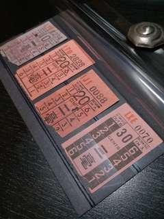KMB 九龍巴士舊車票一組
