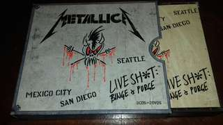 Metallica Live Shit Binge and Purge 3 CD and 2 DVD original USA pressing cd used like new Mexico City, Settle and San Diego