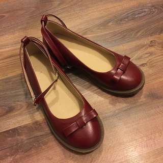 Cute Japanese Style Red Flats