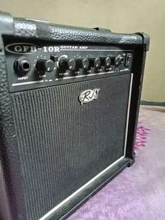 Rj amp guitar with overdrive and reverb