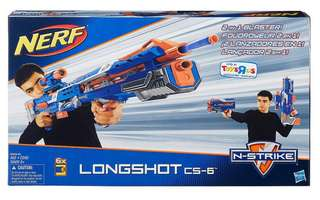 Bnib NERF Longshot CS-6 Blue  Elite Version