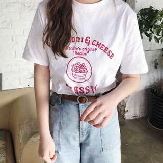 🚚 全新 春夏新款 韓系字母印花圓領短袖T恤