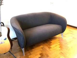 Dark Blue Cosy Sofa for 2