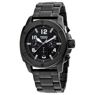 MACHINE CHRONOGRAPH BLACK DIAL BLACK ION-PLATED MEN'S WATCH  FS4927