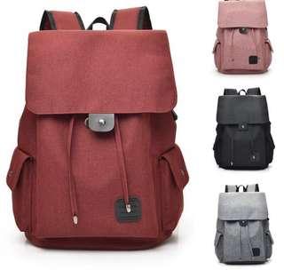 USB External Laptop Backpack Canvas Rucksack 🎒Travel Backpack and school bag