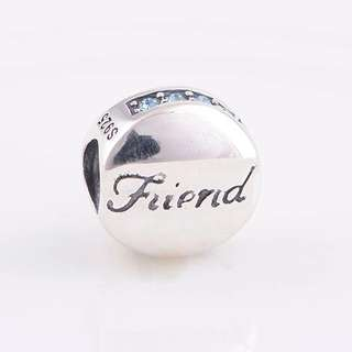 Code S76, Friends Two Sides Front And Back 100% 925 Sterling Silver Charm compatible With Pandora