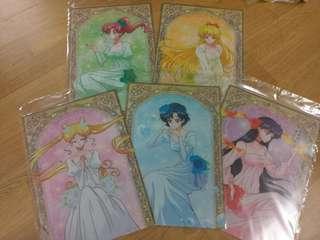 全新日本限定 美少女戰士 前世公主系列file 一套5個