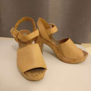 Nude Shoes Leather Heels | Size 37 6