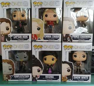 Funko Pops Once upon a time collection