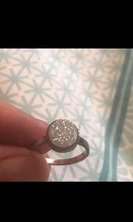Indie&harper rose gold quartz ring