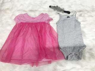 Babies dress set & headband
