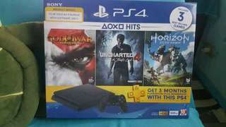 ps4 slim 500gb with 3 games bnew