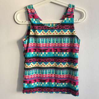 Colourful Tribal Patterned Tank Top
