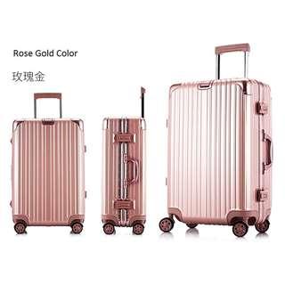 "20"" Rose Gold Luggage Aluminum Frame ABS + PC Body TSA Lock"