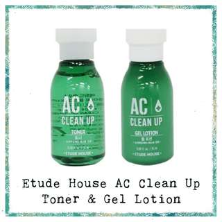 Etude House AC Clean Up Toner & Gel Lotion