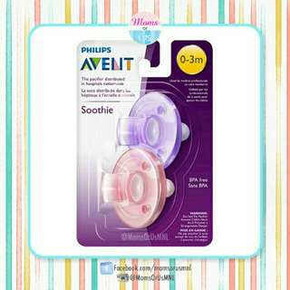 ‼️NEW‼️ AVENT Soothie Pacifier 0-3m (PINK/PURPLE)
