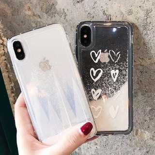 PO: 📱Cascading Snowflakes Pine Tree / Heartshapes Phone Case