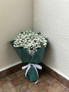 Baby's breath fresh flower bouquet | graduation flowers