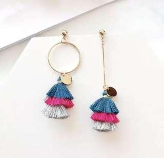 PO - New Bohemia Colorful Tassel Long Earrings (2 colors)