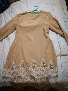 Baju Kurung Moden with few missing beads (can get from any seeing shop)