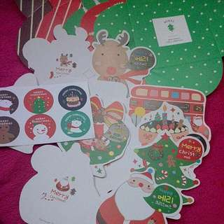 6 Pcs Christmas Cards With Envelope And Sticker