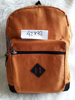 Ransel Bagpack Camel Canvas