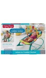 *instock* Fisher Price Infant to Toddler Rocker, Dark Safari