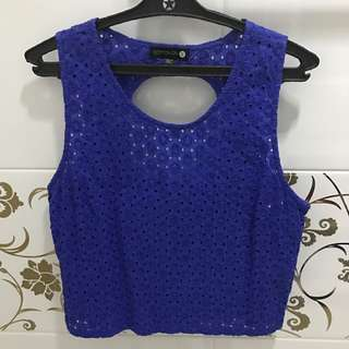 Cotton On Eyelet Back Detailed Top