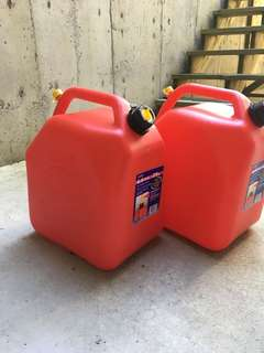 Almost New jerry cans $35 each 25L