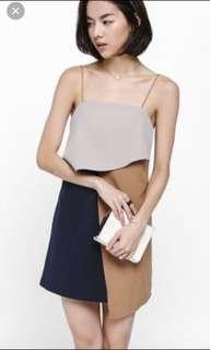 BN Lanse Layered Color Block Dress