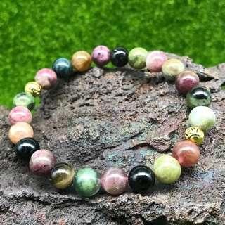 Super Grade Rainbow Tourmaline bracelet 8mm Mothers Day gift