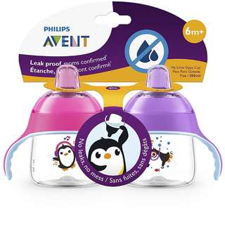 7oz Philips Avent Penguin Soft Spout Sippy Cup, 6m+ (Twin Pack)
