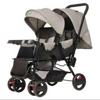 Brand new double stroller pram