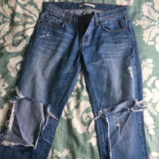 Jbrand ripped jeans s26 $50