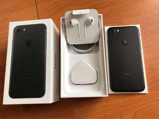 Iphone 7 128Gb Black Matte Full Set Mulus New Earphone Original