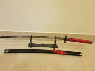 anime sword, katana, Three Girl Rhumbas Sword cosplay, carbon steel, blunt
