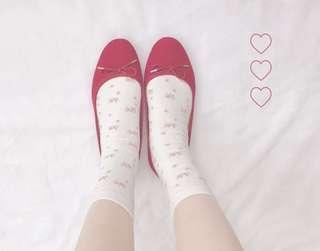 日系彼得兔平紋碎花襪