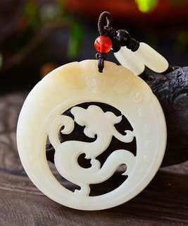 "[hetian jade ""fu is in sight"" dragon brand]"