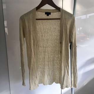 Witchery Champagne Long Cardigan