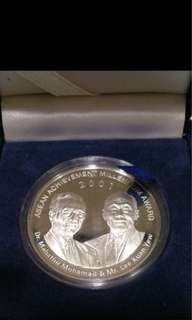 2001 Asean Achievement Millennium Award Commemorative Silver Proof Medallion