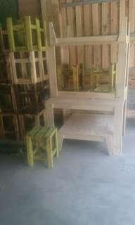 Meja, kursi kafe, rumah makan,castem furnitur kayu jati belanda exs peti kemas