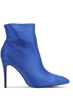 SATIN POINTED ANKLE BOOTS