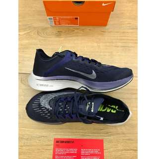 NEW Nike Zoom Vaporfly 4% - Obsidian Metallic Silver Neutral Indigo (Dark blue and silver) UK9/ US10 / EUR44 . Zoom X foam 100% new and authentic with receipt.