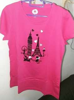Bossini T-shirt for girls /ladies - Size M (Pink/Purple)